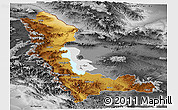 Physical Panoramic Map of West Azarbayejan, desaturated