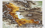 Physical Panoramic Map of West Azarbayejan, semi-desaturated
