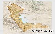 Satellite Panoramic Map of West Azarbayejan, lighten
