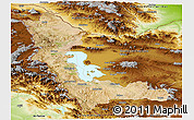 Satellite Panoramic Map of West Azarbayejan, physical outside