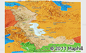 Satellite Panoramic Map of West Azarbayejan, political outside