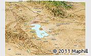 Satellite Panoramic Map of West Azarbayejan