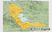 Savanna Style Panoramic Map of West Azarbayejan