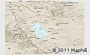 Shaded Relief Panoramic Map of West Azarbayejan