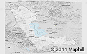 Silver Style Panoramic Map of West Azarbayejan