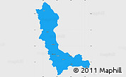 Political Simple Map of West Azarbayejan, single color outside