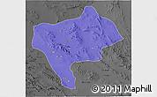 Political 3D Map of Yazd, darken, desaturated
