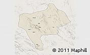 Shaded Relief 3D Map of Yazd, lighten