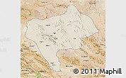 Shaded Relief 3D Map of Yazd, satellite outside