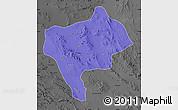 Political Map of Yazd, darken, desaturated