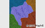 Political Map of Yazd, darken