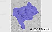 Political Map of Yazd, lighten, desaturated