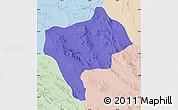 Political Map of Yazd, lighten