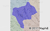 Political Map of Yazd, lighten, semi-desaturated