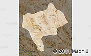 Satellite Map of Yazd, darken