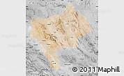 Satellite Map of Yazd, desaturated
