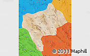 Satellite Map of Yazd, political outside