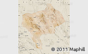 Satellite Map of Yazd, shaded relief outside