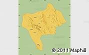 Savanna Style Map of Yazd, single color outside