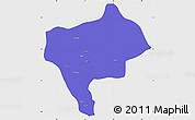 Political Simple Map of Yazd, single color outside