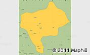 Savanna Style Simple Map of Yazd