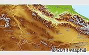 Physical 3D Map of Zanjan