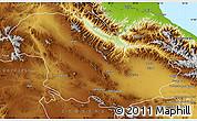 Physical Map of Zanjan