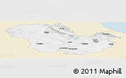 Classic Style Panoramic Map of Zanjan, single color outside