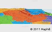 Political Panoramic Map of Zanjan