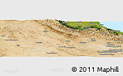 Satellite Panoramic Map of Zanjan