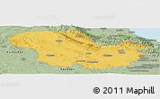 Savanna Style Panoramic Map of Zanjan