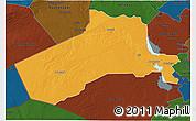 Political 3D Map of Al-Anbar, darken