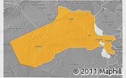 Political 3D Map of Al-Anbar, desaturated