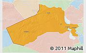 Political 3D Map of Al-Anbar, lighten