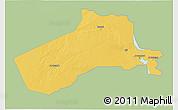 Savanna Style 3D Map of Al-Anbar, single color outside