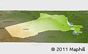 Physical Panoramic Map of Al-Anbar, darken