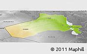 Physical Panoramic Map of Al-Anbar, desaturated