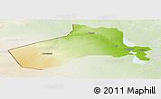 Physical Panoramic Map of Al-Anbar, lighten