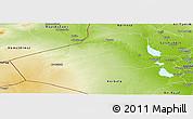 Physical Panoramic Map of Al-Anbar
