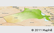 Physical Panoramic Map of Al-Anbar, satellite outside