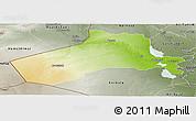 Physical Panoramic Map of Al-Anbar, semi-desaturated