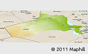 Physical Panoramic Map of Al-Anbar, shaded relief outside