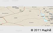 Shaded Relief Panoramic Map of Al-Anbar