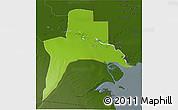 Physical 3D Map of Al-Basrah, darken