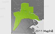 Physical 3D Map of Al-Basrah, desaturated