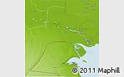 Physical 3D Map of Al-Basrah