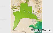 Physical 3D Map of Al-Basrah, satellite outside