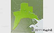 Physical 3D Map of Al-Basrah, semi-desaturated