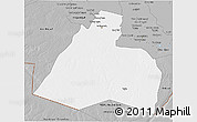 Gray 3D Map of Al-Muthannia
