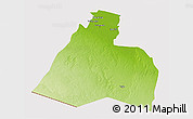 Physical 3D Map of Al-Muthannia, cropped outside